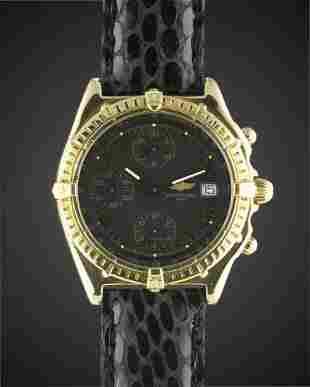 A GENTLEMANS 18K SOLID GOLD BREITLING CHRONOMAT