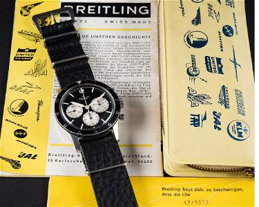 A VERY RARE GENTLEMAN'S STAINLESS STEEL BREITLING 765