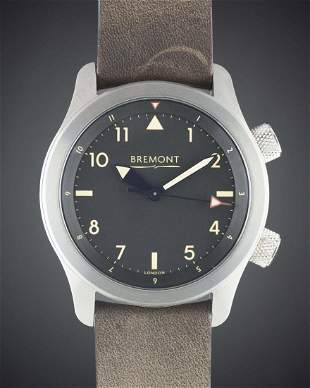 A GENTLEMANS STAINLESS STEEL BREMONT U2TAUTOMATIC