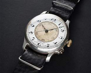 A RARE GENTLEMAN'S SOLID SILVER LONGINES WITTNAUER