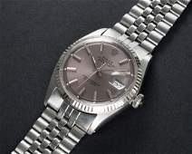 A GENTLEMANS STEEL  WHITE GOLD ROLEX OYSTER PERPETUAL