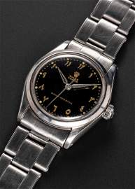 AN EXTREMELY RARE GENTLEMAN'S STAINLESS STEEL ROLEX