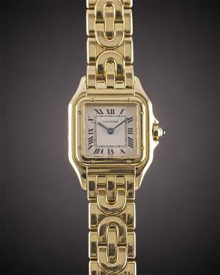 """A LADIES 18K SOLID GOLD CARTIER PANTHERE """"ART DECO"""""""