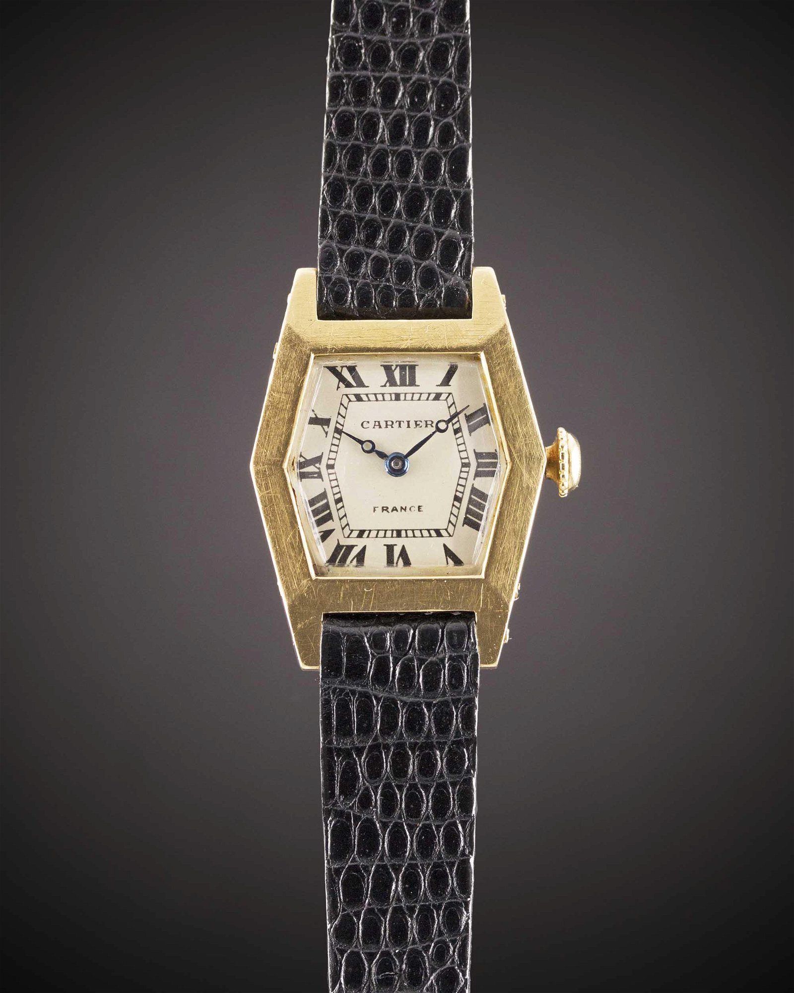 A RARE LADIES 18K SOLID GOLD CARTIER FRANCE WRIST WATCH