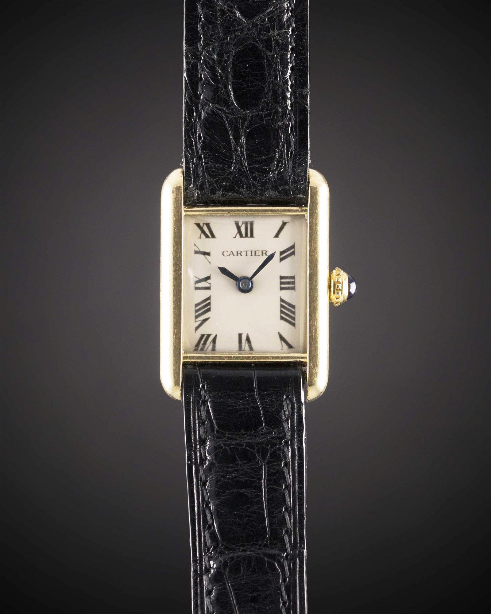 """A RARE LADIES 18K SOLID GOLD CARTIER LONDON TANK """"LC"""""""