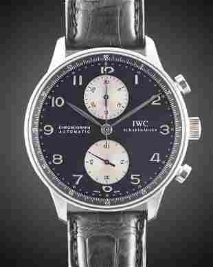A GENTLEMAN'S STAINLESS STEEL IWC PORTUGUESE AUTOMATIC