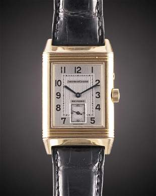 A GENTLEMAN'S 18K SOLID ROSE GOLD JAEGER LECOULTRE