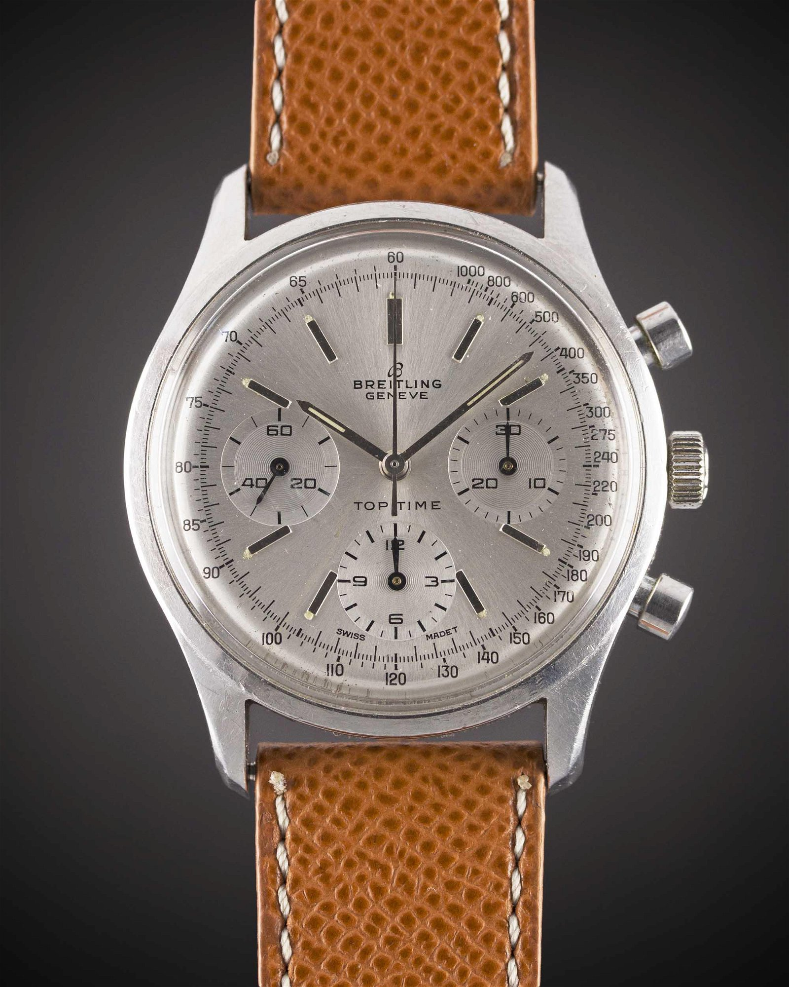 A GENTLEMAN'S STAINLESS STEEL BREITLING TOP TIME