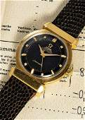 A VERY RARE GENTLEMAN'S 18K SOLID YELLOW GOLD OMEGA