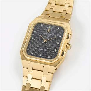 A FINE & RARE GENTLEMAN'S LARGE SIZE 18K SOLID GOLD &