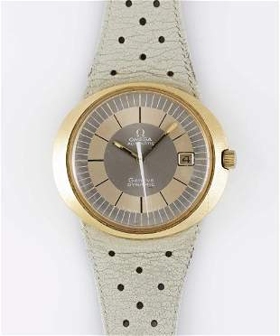 A RARE GENTLEMAN'S 18K SOLID GOLD OMEGA GENEVE DYNAMIC