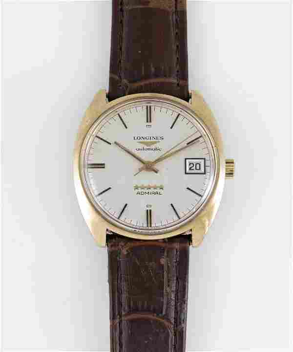 """A GENTLEMAN'S 9CT SOLID GOLD LONGINES ADMIRAL """"5 STAR"""""""