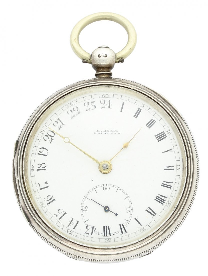 A GENTLEMAN'S SOLID SILVER FUSEE 24 HOUR NIGHT & DAY
