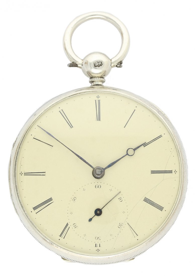 A SOLID SILVER FUSEE POCKET WATCH BY J.KINGERLEY CIRCA