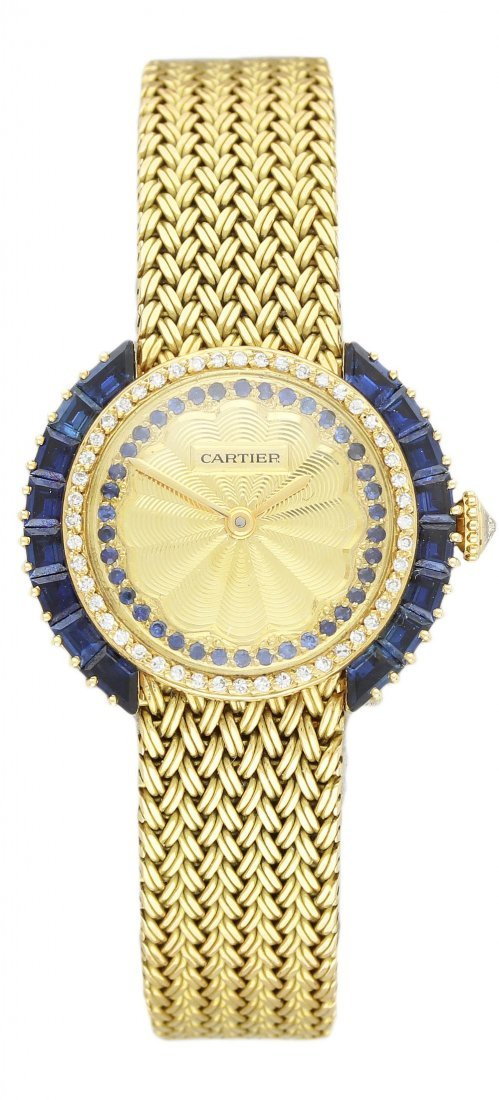 A FINE & RARE LADIES 18K SOLID GOLD CARTIER PARIS