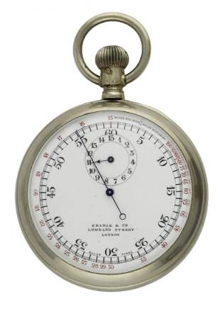 A NICKEL CASED FRONT & BACK DUAL DISPLAY TIMING POCKET