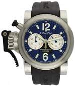 A GENTLEMAN'S STAINLESS STEEL GRAHAM CHRONOFIGHTER