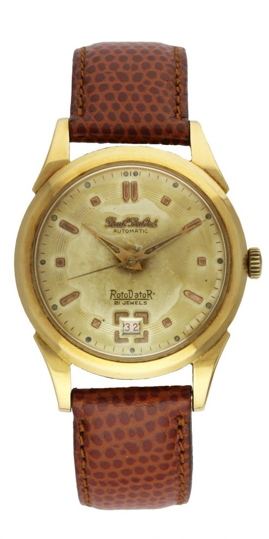 A GENTLEMAN'S 18K SOLID GOLD PAUL BUHRE ROTODATOR