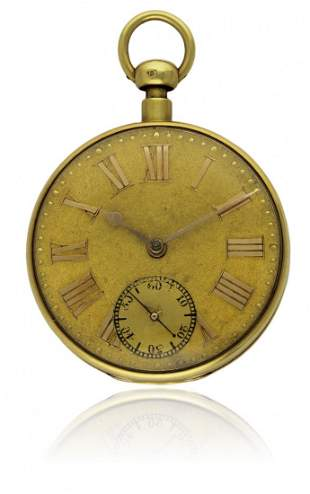 AN 18K SOLID GOLD REPEATING DUPLEX POCKET WATCH BY