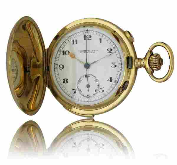 AN 18K SOLID GOLD MINUTE REPEATING FULL HUNTER