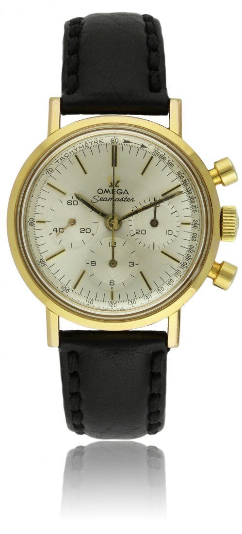 A RARE GENTLEMAN'S GOLD PLATED OMEGA SEAMASTER