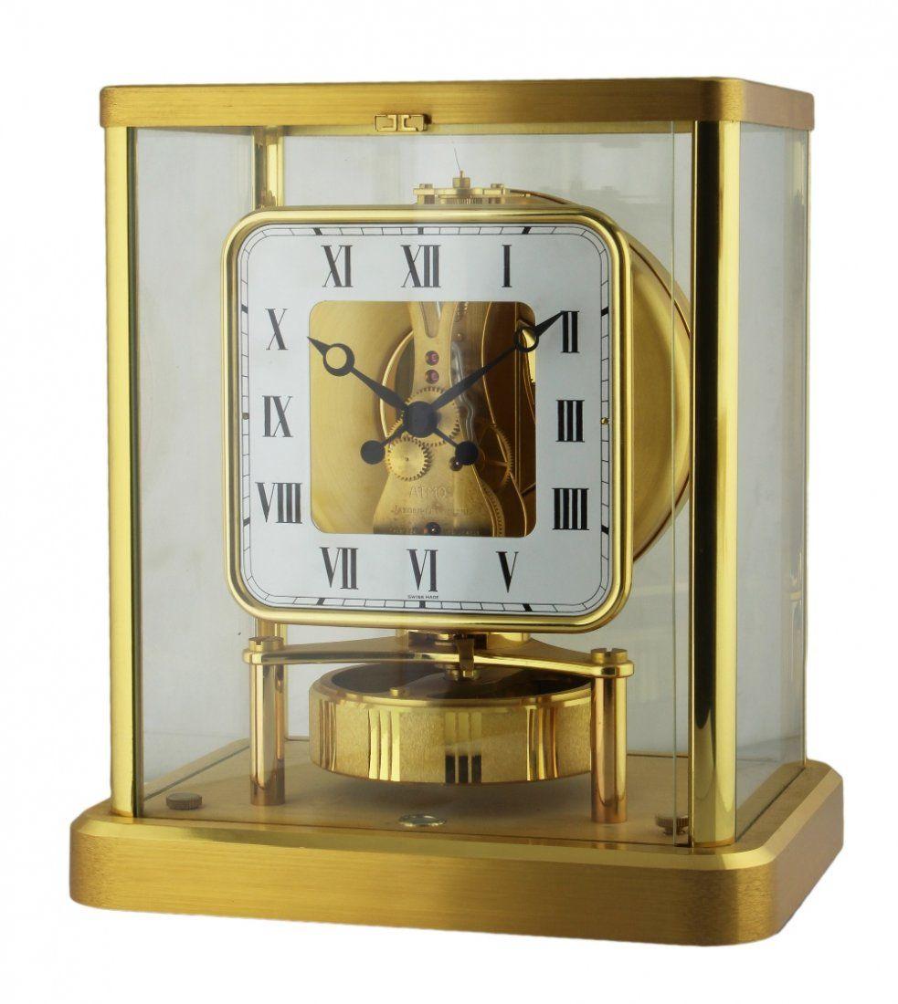 A JAEGER LECOULTRE ATMOS CLOCK CIRCA 1970s White dial