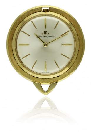 A 18K SOLID GOLD JAEGER LECOULTRE PENDANT WATCH CIRCA