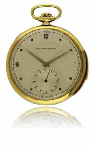 A FINE & RARE GENTLEMAN'S 18K SOLID GOLD MINUTE