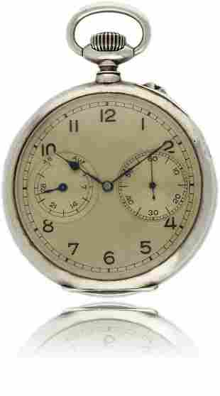 A RARE GENTLEMAN'S SOLID SILVER A. LANGE & SOHNE