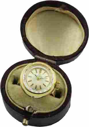 A LADIES 18K SOLID GOLD OMEGA RING WATCH CIRCA 1964,