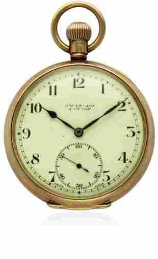 A GENTLEMAN'S 9CT SOLID GOLD J.W.BENSON POCKET WATCH