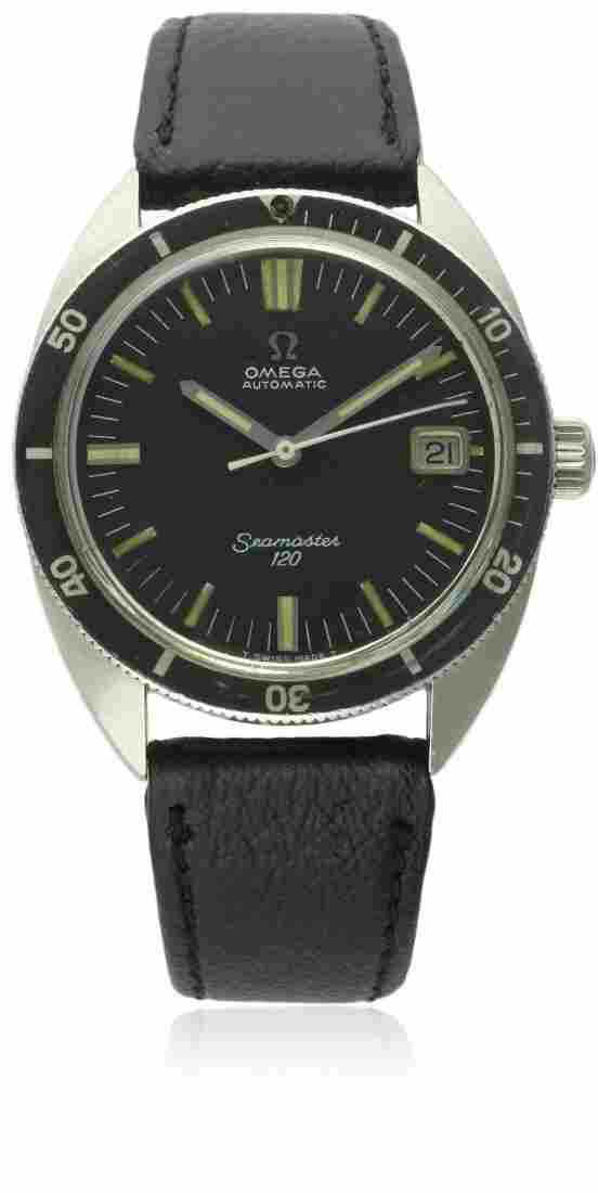 A GENTLEMAN'S STAINLESS STEEL OMEGA SEAMASTER 120