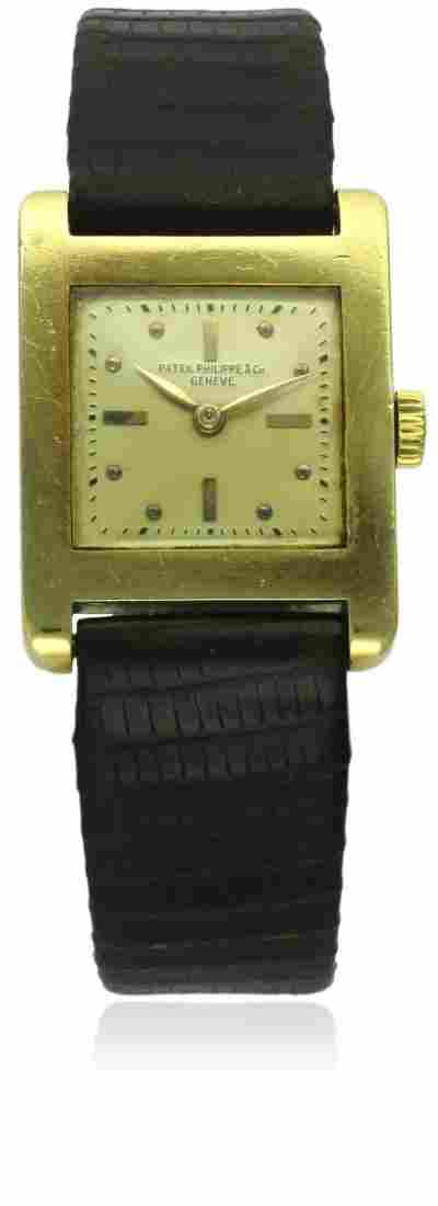 A GENTLEMAN'S 18K SOLID GOLD PATEK PHILIPPE WRIST WATCH