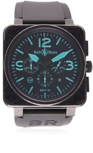 A GENTLEMAN'S PVD COATED BELL & ROSS AUTOMATIC