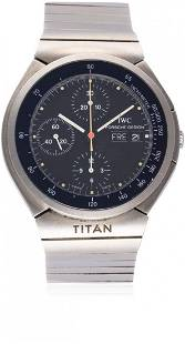 A GENTLEMAN'S TITANIUM PORSCHE DESIGN IWC TITAN