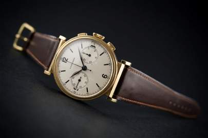 A FINE & RARE GENTLEMAN'S LARGE SIZE 18K SOLID GOLD