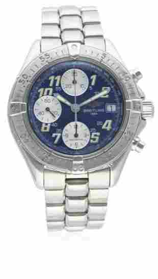 A GENTLEMAN'S STAINLESS STEEL BREITLING COLT AUTOMATIC