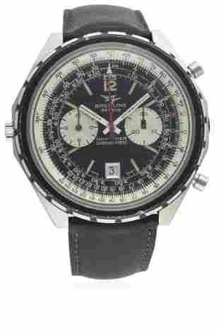 A GENTLEMAN'S STAINLESS STEEL BREITLING CHRONO MATIC