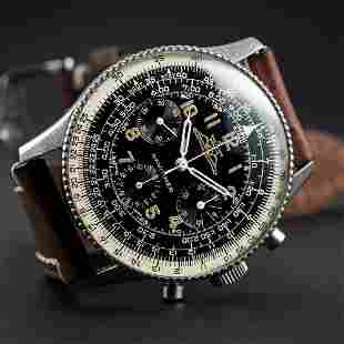 A RARE GENTLEMAN'S STAINLESS STEEL BREITLING AOPA