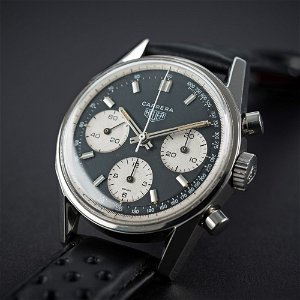 AN EXTREMELY RARE GENTLEMAN'S STAINLESS STEEL HEUER