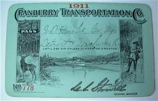 Cranberry Transportation Co Pass 1911