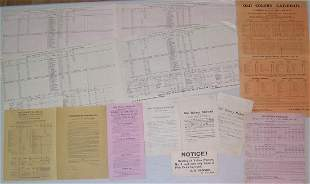 Old Colony Railroad 9 Broadside Timetables