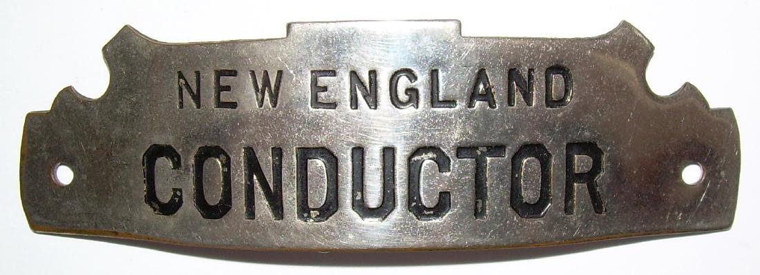 New England Railroad Conductor Hat Badge