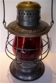 Fitchburg Railroad Triple marked Brasstop Lantern