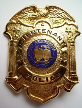Delaware & Hudson Lieutenant Police Badge