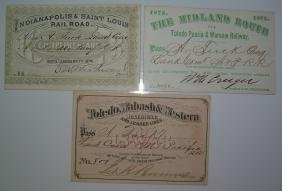 1873 annual Passes Midwest: I&StL, TP&W, TW&W