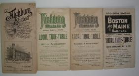 Fitchburg Railroad related Timetables