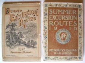 Pennsylvania Railroad Tour books 1887, 1910