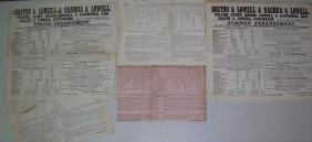Boston Lowell & Nashua Railroad 5 Broadsides