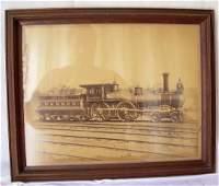Framed Hartford & New Haven Locomotive Saturn #27